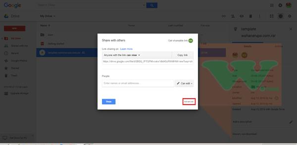 Upload File ke Google Drive Beserta Pengaturan yang Tepat