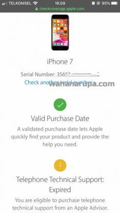 cek garansi iPhone imei
