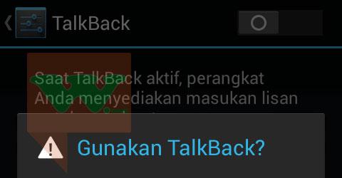 cara menonaktifkan talkback