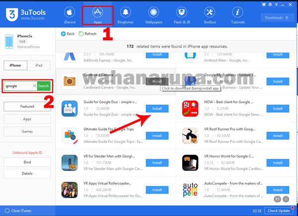 cara install aplikasi iphone