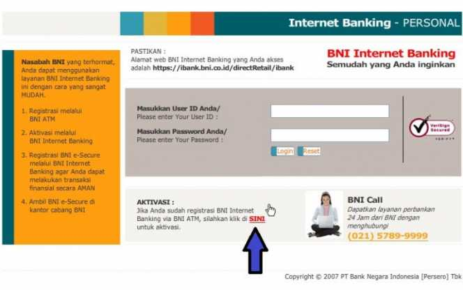 Internet Banking personal