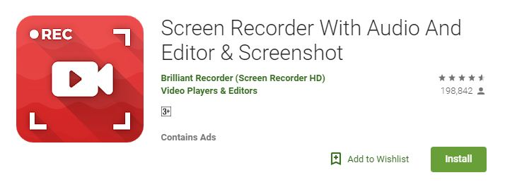 Screen Recorder With Audio And Editor & Screenshot
