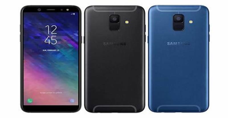 Samsung Galaxy A6 (2018) black and Blue