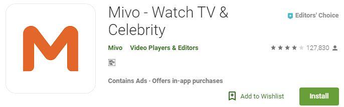 Mivo – Watch TV & Celebrity