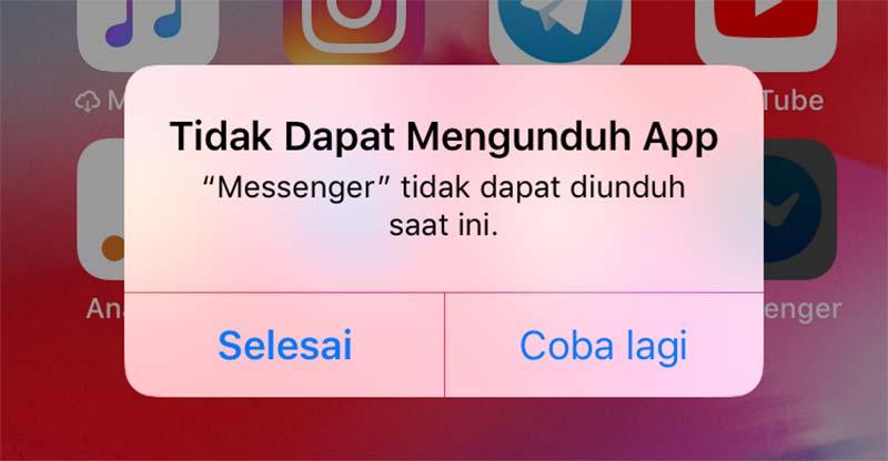 Cara Mengatasi iPhone Gagal Download di AppStrore