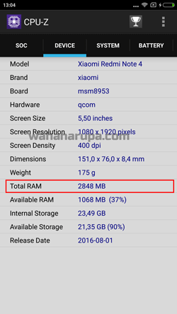 Cara Cek RAM HP Android Untuk Semua Merk
