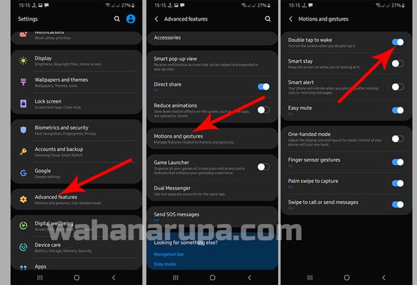 Cara Setting Ketuk 2 kali Membuka Layar HP Samsung