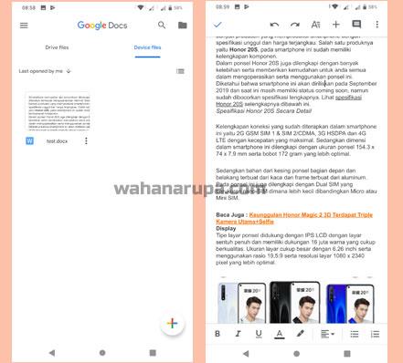 cara membuka file word di hp android