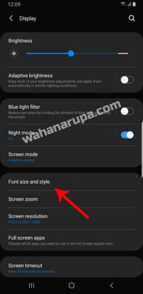 Cara Ganti Font Samsung