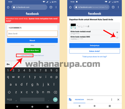 cara mengatasi Lupa Kata Sandi FB