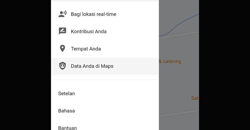 Cara Hapus history Google Maps