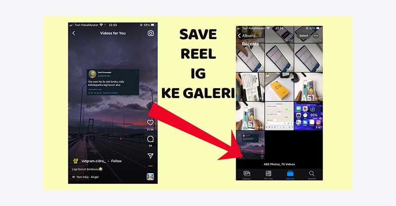 Cara simpan video Reels IG ke Galeri
